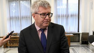 Ryszard Czarnecki, jeszcze jako wiceprzewodniczący Parlamentu Europejskiego. Warszawa, Sejm, 20 stycznia 2018