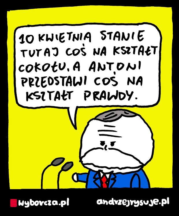 Andrzej Rysuje   POMNIK SMOLEŃSKI -  -