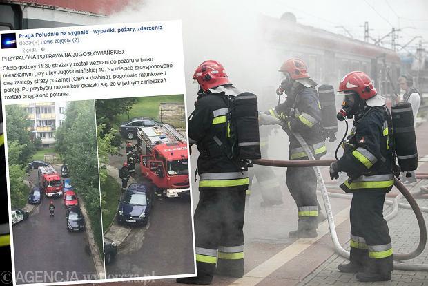 Wpis na Facebooku i straż pożarna podczas ćwiczeń