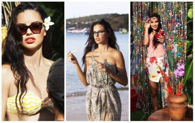 Adriana Lima now� twarz� Vouge Eyewear