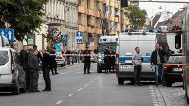 Bomba eksplodowała na przystanku przy ul. Kościuszki we Wrocławiu