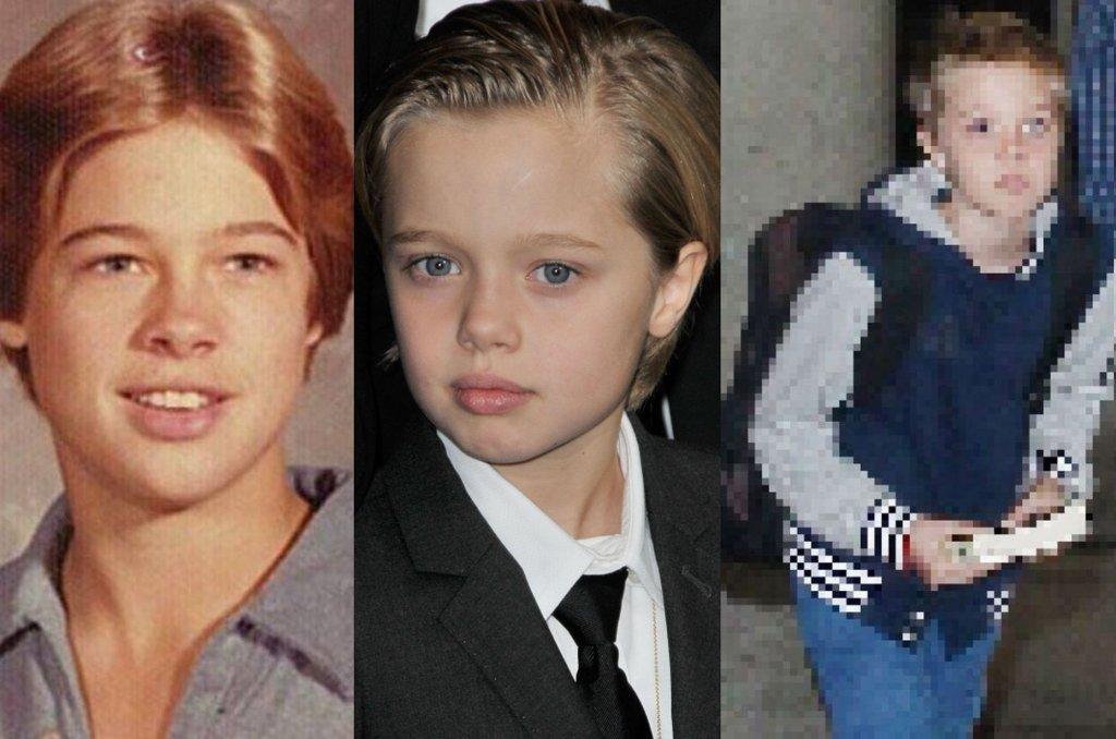 Kilka dni temu Angelina Jolie w towarzystwie córek - Zahary i Shiloh, pojawiła się na lotnisku w Los Angeles. Tym razem to nie aktorka była w centrum zainteresowania. 9-letnia Shiloh mocno skróciła włosy. Jak teraz wygląda? IDENTYCZNIE jak jej sławny ojciec w młodości. Znów wrócił więc temat rozważań nad jej tożsamością płciową.