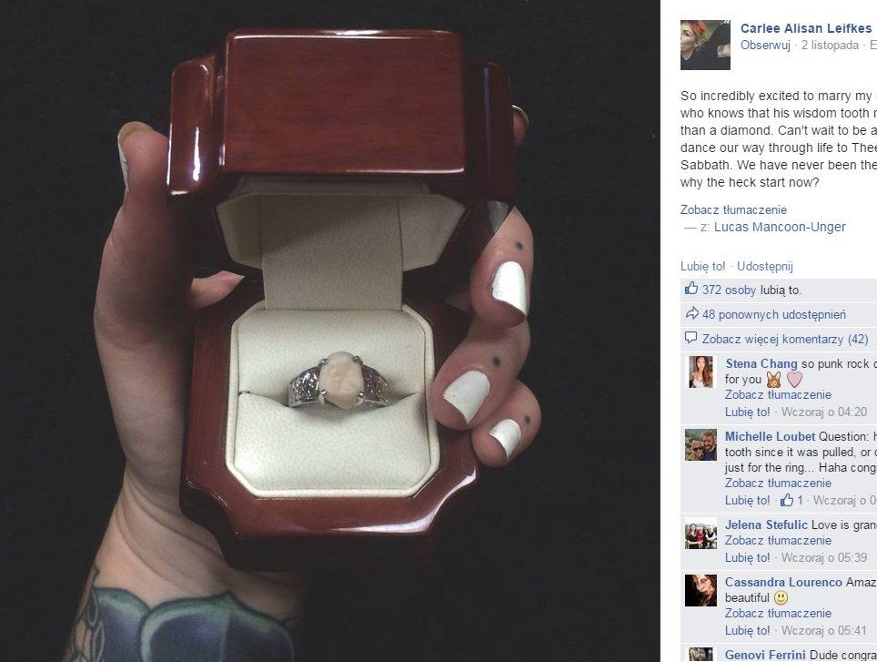 Diamenty Są Przereklamowane Jej Pierścionek Zaręczynowy To Ząb
