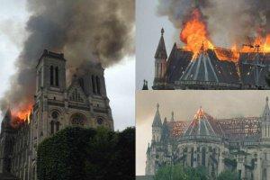 Francja: bazylika w Nantes stan�a w p�omieniach. Zapali� si� dach zabytkowej �wi�tyni