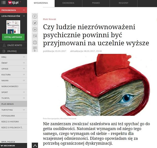 List otwarty w sprawie artykułu doktora hab. Piotra Nowaka