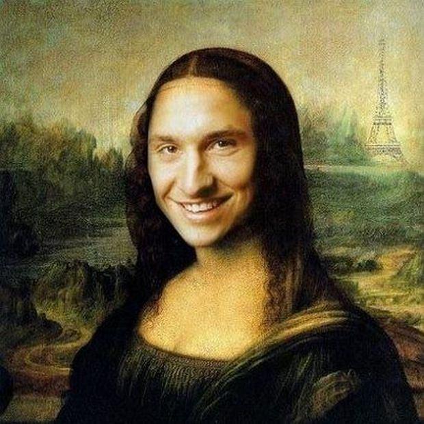 Zlatan Ibrahimovi� jako Mona Lisa