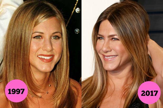 """Świetne geny, diety-cud czy pomoc medycyny estetycznej? Nie wiemy, co sprawia, że Jennifer Aniston wciąż wygląda jak niezapomniana Rachel z """"Przyjaciół"""", a Aneta Kręglicka nadal mogłaby konkurować w wyborach Miss World. Te gwiazdy wyglądają niemal identycznie jak 20 lat temu."""