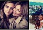 Kate Moss wsp�pracuje z Car� Delevingne, a Anja Rubik korzysta z pierwszego wiosennego s�o�ca, czyli prywatne zdj�cia modelek