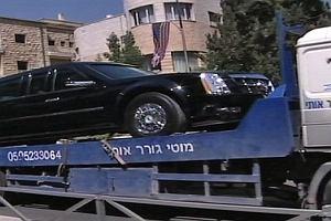 Wpadka limuzyny prezydenta USA w Izraelu