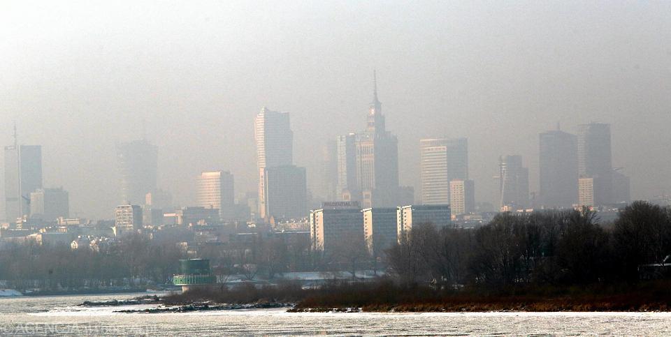 Smog nad Warszawą, styczeń 2017 r.