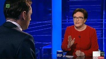 Ziemiec pyta Kopacz w TVP o konstytucj�. Ta zaskakuje zupe�nie innym o�wiadczeniem