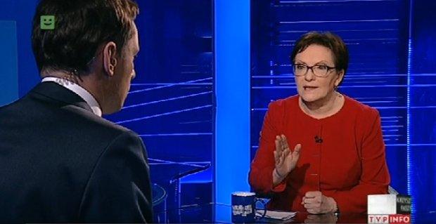 Ewa Kopacz w Telewizji Polskiej