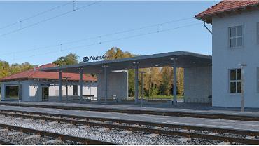 Wstępna wizualizacja dworca w Olsztynku po przebudowie