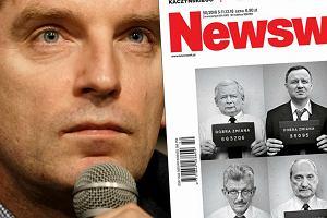 """Kaczyński i jego ludzie w policyjnej kartotece - oto okładka nowego """"Newsweeka"""""""