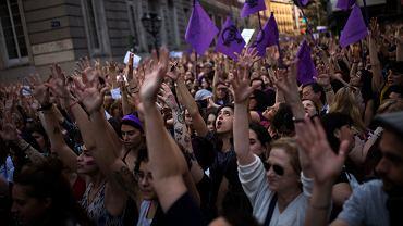 Protesty pod ministerstwem sprawiedliwości w Madrycie