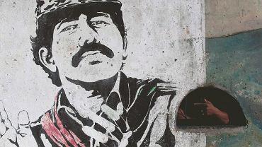 Mural przedstawiający Daniela Ortegę umieszczony na stadionie w nikaraguańskim mieście Estel?