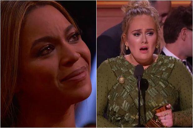 Adele nie spodziewała się, że jej album zostanie doceniony bardziej niż album Beyonce. Właśnie dlatego postanowiła podzielić się ze swoją idolką nagrodą.