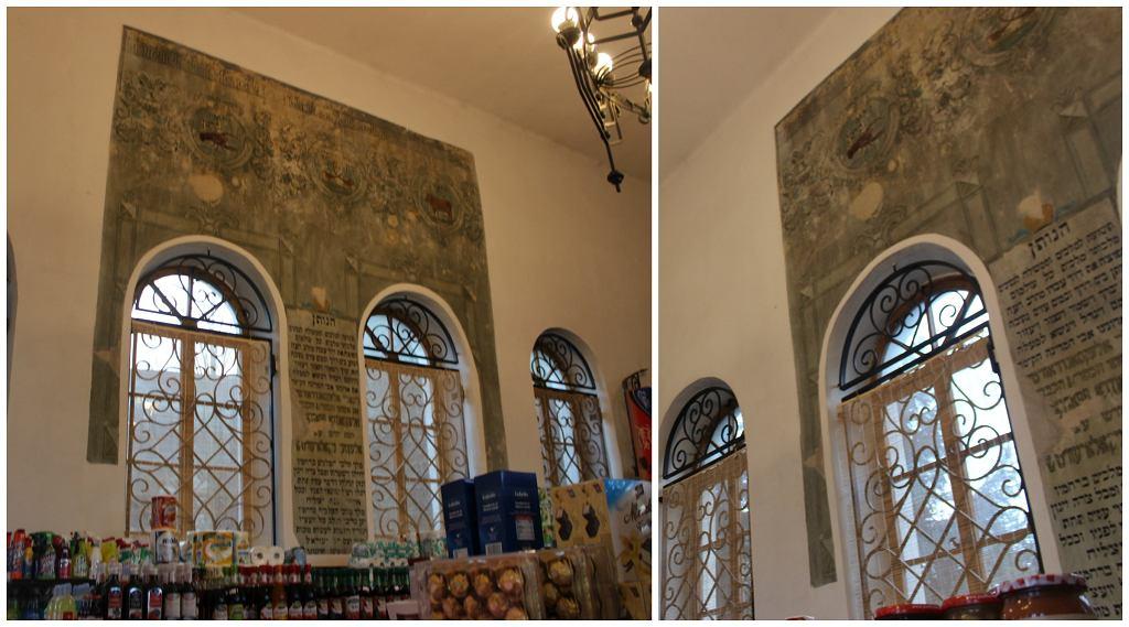 Zabytkowe freski w synagodze w Inowłodzu (fot. Bartosz Józefiak)