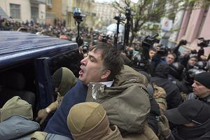 Poszukiwany listem gończym Saakaszwili koczuje pod parlamentem w Kijowie