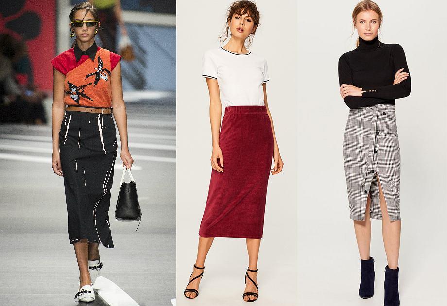 Najmodniejsze spódnice na rok 2018 - spódnica ołówkowa do połowy łydki