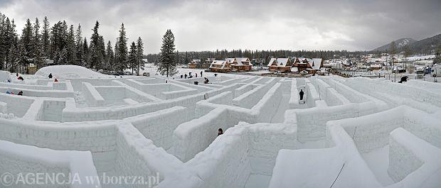 Do Zakopanego wróci wielka atrakcja. Wkrótce znów stanie tam największy śnieżny labirynt na świecie