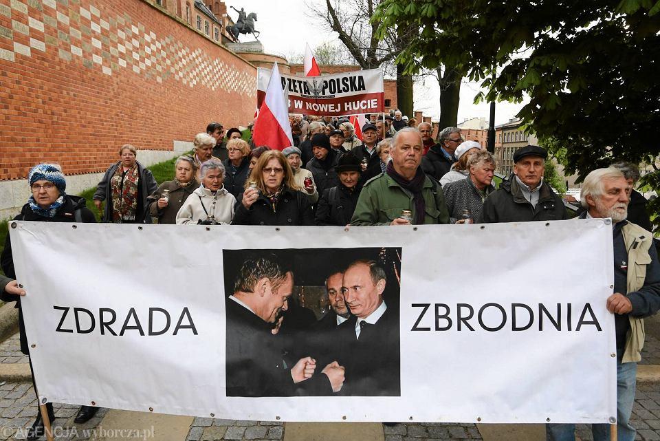 Obchody 85. miesięcznicy smoleńskiej w Krakowie