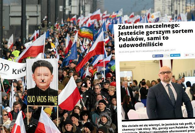 Manifestacja KOD. Marsz poparcia dla Lecha Wa��sy