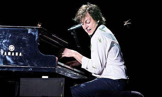 Chmara koników polnych pojawiła się na scenie wokół Paula McCartneya w trakcie koncertu w Brazylii.