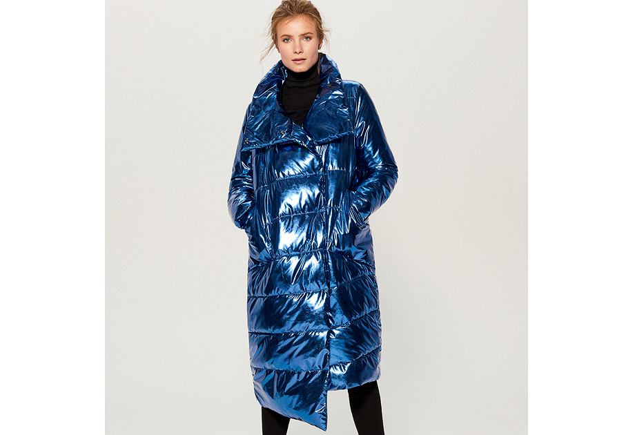 Pikowany płaszcz Mohito
