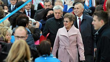 Senator Stanisław Kogut podczas wizyty prezydenta Andrzeja Dudy w Starym Sączu