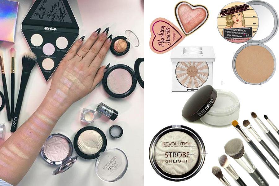 Kolaż, kosmetyki rozświetlające/Materiały partnera