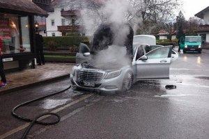 Nowy Mercedes klasy S w ogniu