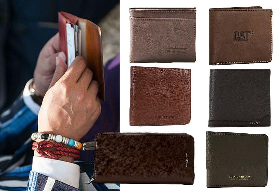 Brązowe męskie portfele