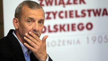 Prezes ZNP Sławomir Broniarz podczas Obywatelskeigo podsumowania zmian w systemie edukacji