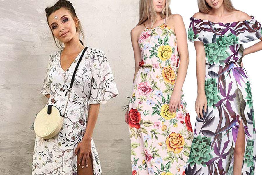 7988a78d9f Długie sukienki są idealne na lato. Mamy fasony w stylu Julii Wieniawy oraz  coś dla puszystych pań. W świetnych cenach!