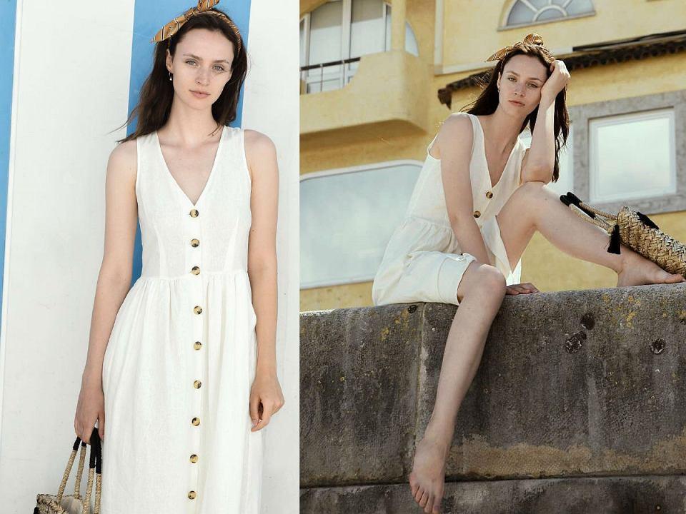 Sukienka z lnu będzie idealna na upały