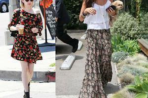 Motyw kwiatowy na spódnicach i sukienkach - w tych stylizacjach będziesz chciała chodzić