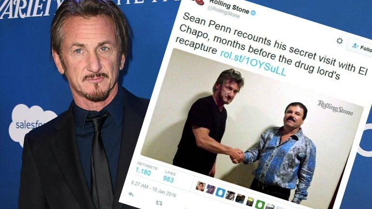 Sean Penn i jego spotkanie z Guzmanem