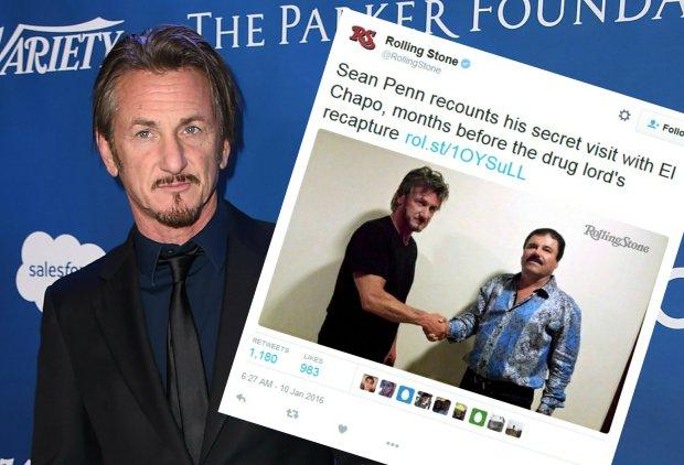"""Sean Penn obj�ty dochodzeniem. """"El Chapo"""" namierzony, bo Penn zrobi� z nim wywiad?"""