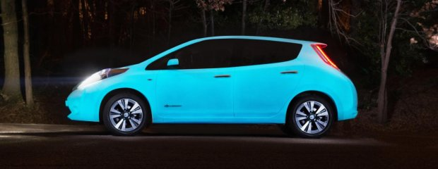 Świecący lakier Nissana Leaf