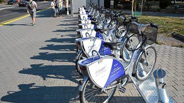 Jedna z trzech stacji  rowerow miejskich Next Bike