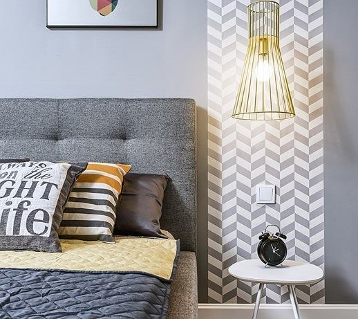 Tapeta w stylu skandynawskim doda sypialni uroku