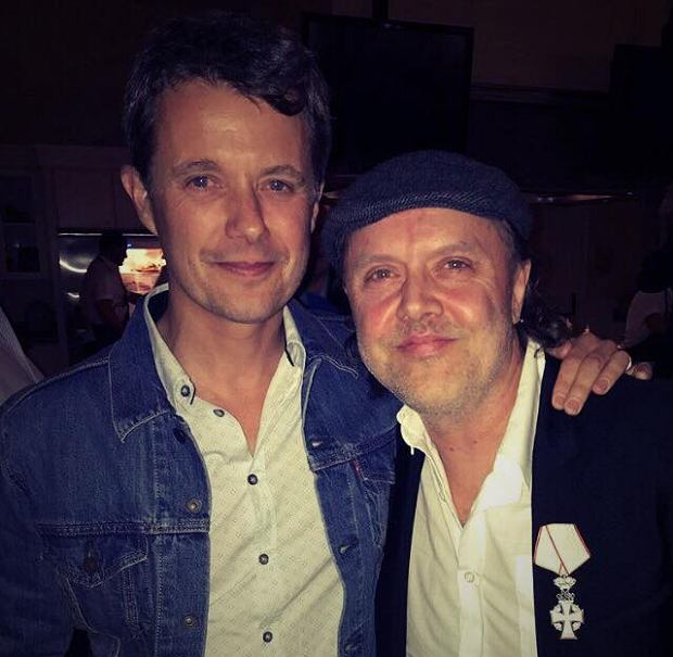 Lars Ulrich i książę Frederick