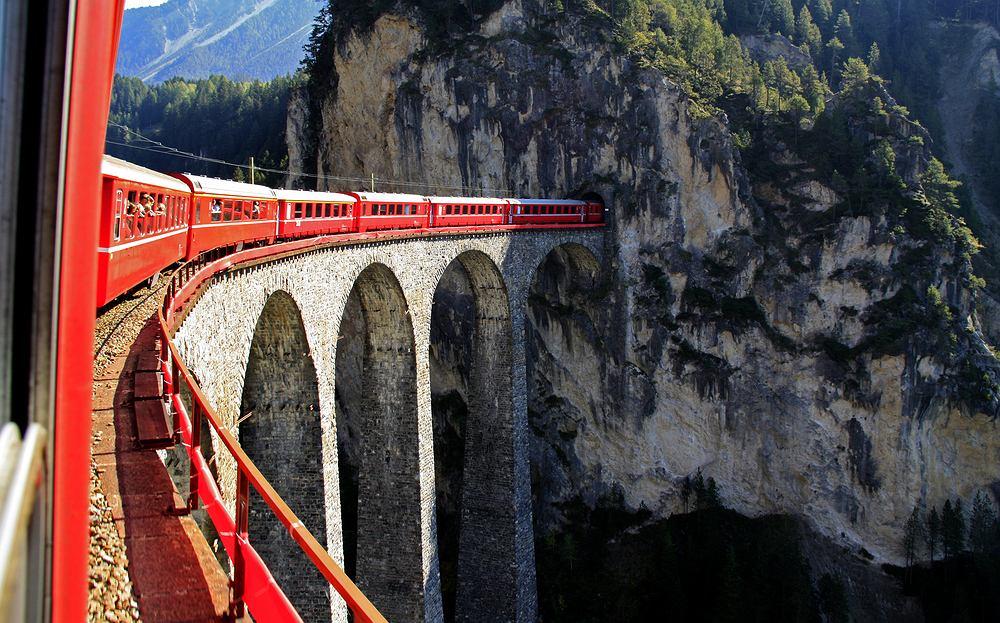 glacier express, szwajcaria, pociąg, trasy kolejowe