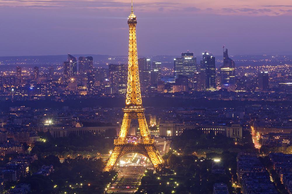 Francja. Paryż - Trocadéro, Passy, wieża Eiffla i Invalides