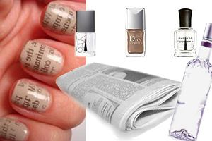 Stylizacja paznokci - manicure z nadrukiem