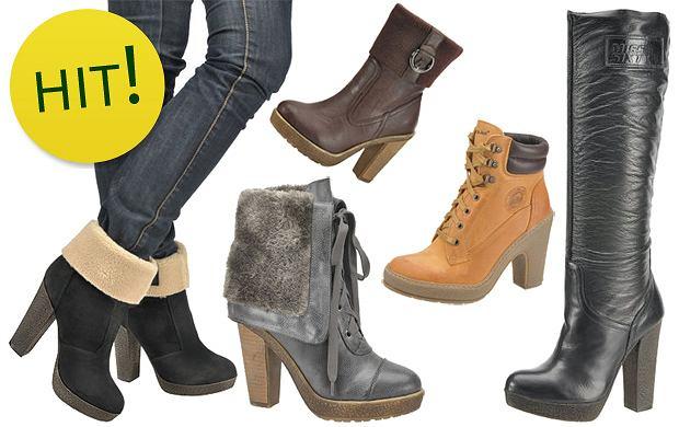 b53e937ae4f6d Jesienne i zimowe buty na szerokim obcasie