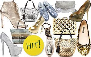 z�oty, srebrny, buty, torebki