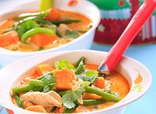 Tajska zupa z kurczakiem i s�odkim ziemniakiem - ugotuj