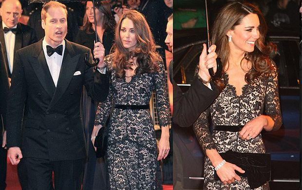Kate Middleton w czarnej sukni Alice by Temperley - hit czy kit?
